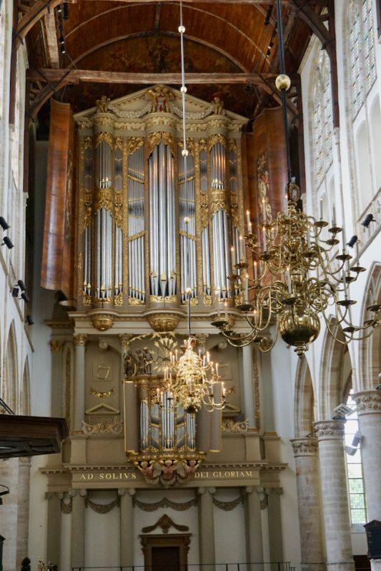 Het hoofdorgel van de Grote Kerk in Alkmaar