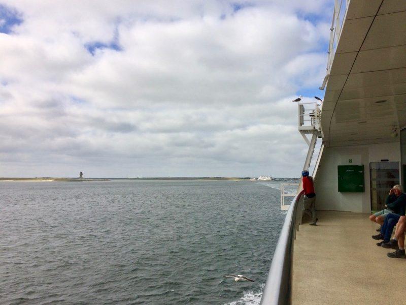 Nog een laatste blik op Texel vanaf de veerboot