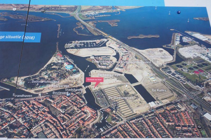 Luchtfoto van het project Waterfront in Harderwijk, situatie 2018
