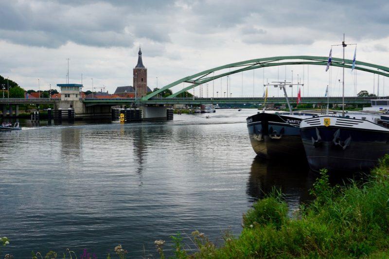 Zicht op Hasselt aan het Zwarte Water