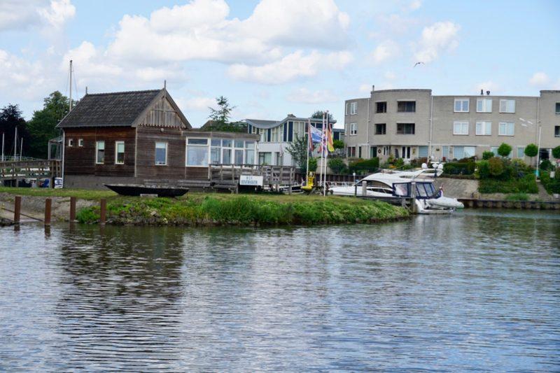 De haveningang van W.S.V. Bovenhaven te Kampen