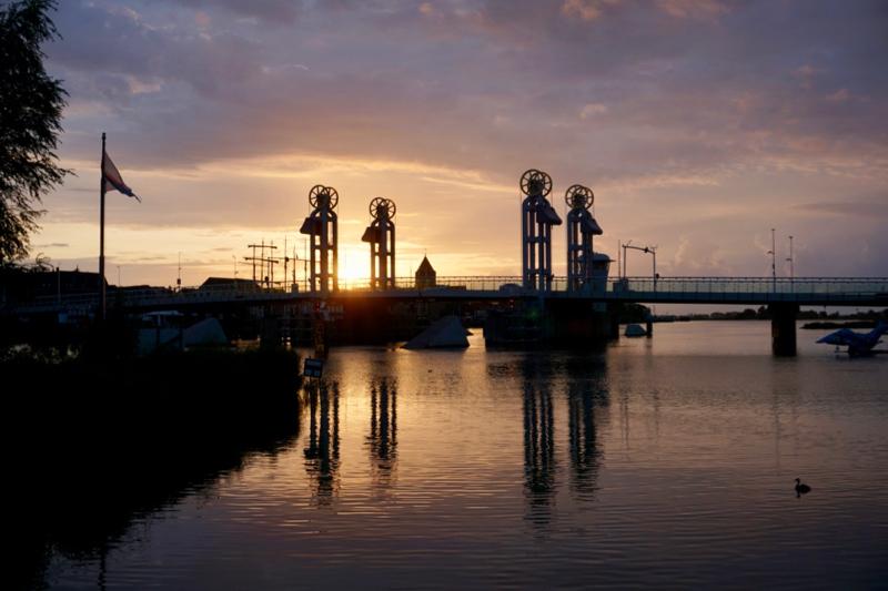 Zonsondergang bij Kampen