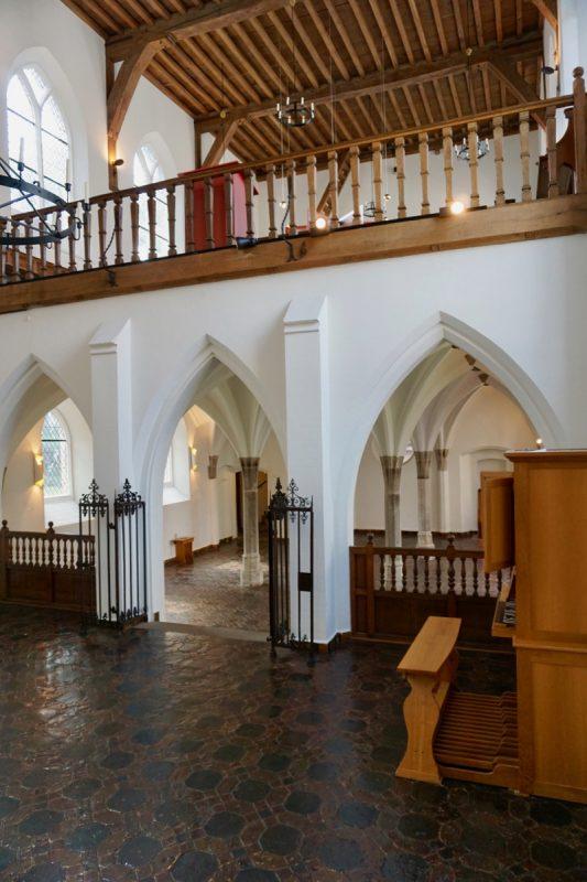 Boven in de kapel van het Agnietenconvent zaten de nonnen