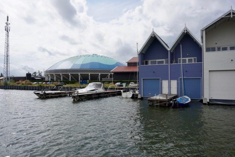 De nieuwe boothuizen voor het Dolfinarium in Harderwijk